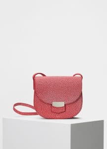 Celine Scarlet Bicolor Goatskin Small Trotteur Shoulder Bag