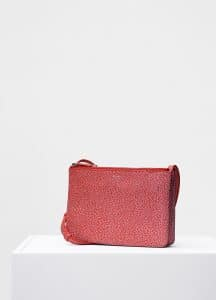 Celine Scarlet Bicolor Goatskin Trio Shoulder Bag