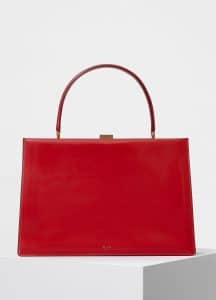 Celine Scarlet Sleek Calfskin Medium Clasp Bag