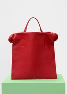 Celine Scarlet Smooth Calfskin Medium Knots Tote Bag