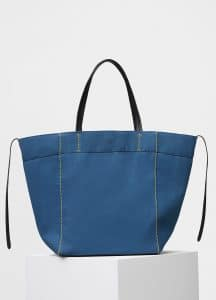 Celine Washed Blue Washed Canvas Medium Cabas Phantom Bag