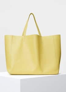 Celine Yellow Smooth Lambskin Horizontal Cabas Bag