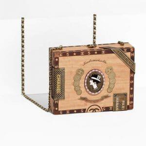 Chanel Wood Havana By Night Cigar Box Bag 1