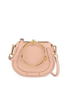 Chloe Beige Nile Medium Bracelet Crossbody Bag