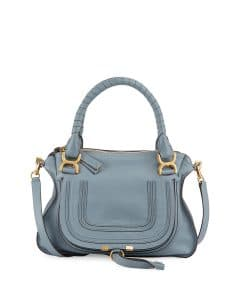 Chloe Blue Marcie Medium Satchel Bag