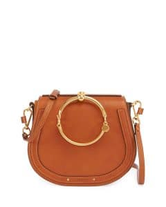 Chloe Brown Nile Medium Bracelet Crossbody Bag