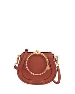 Chloe Brown Nile Small Bracelet Crossbody Bag