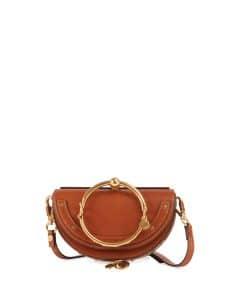 Chloe Brown Nile Small Bracelet Minaudiere Bag