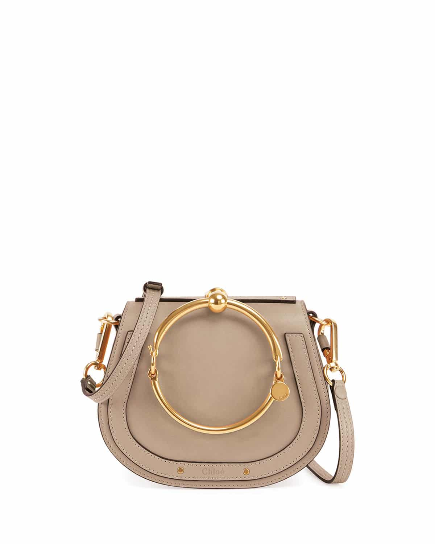 Chloe Gray Nile Small Bracelet Crossbody Bag