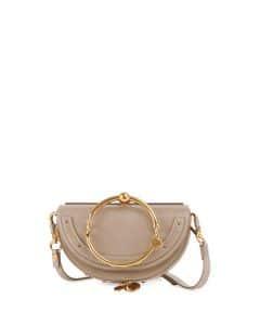 Chloe Gray Nile Small Bracelet Minaudiere Bag