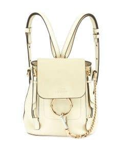 Chloe White Faye Mini Backpack Bag