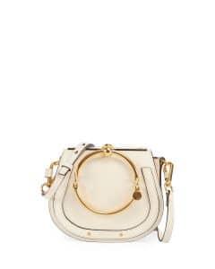 Chloe White Nile Small Bracelet Crossbody Bag