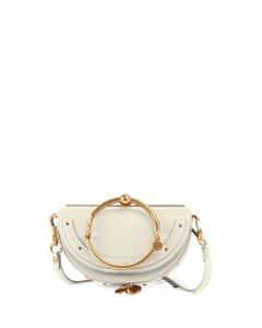 Chloe White Nile Small Bracelet Minaudiere Bag