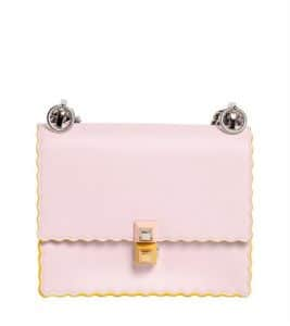 Fendi Light Pink Scalloped Kan I Small Bag