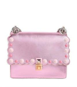 Fendi Pink Laminated Kan I Small Bag