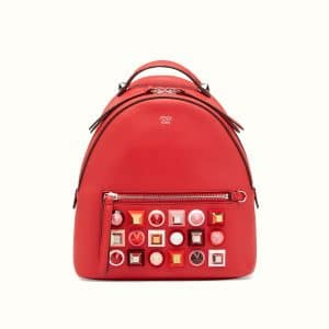 Fendi Red Studded Backpack Bag