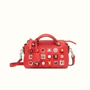 Fendi Red Studded Mini By The Way Bag