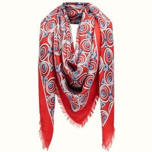 Fendi Red/Blue Hypnoteyes Shawl