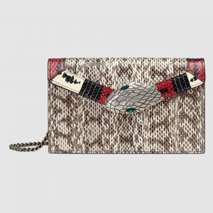 Gucci Beige Snakeskin Lilith Shoulder Bag