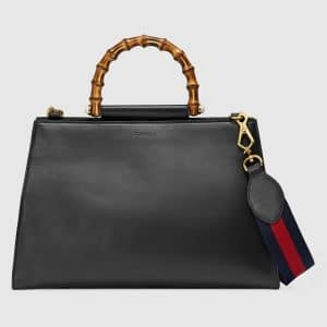 Gucci Black Medium Nymphaea Top Handle Bag 2