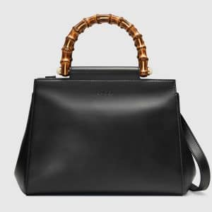 Gucci Black Small Nymphaea Top Handle Bag