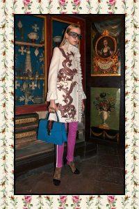 Gucci Blue Ostrich Sylvie Top Handle Bag - Pre-Fall 2017