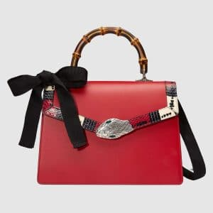Gucci Hibiscus Red Medium Lilith Top Handle Bag