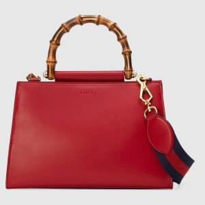 Gucci Hibiscus Red Small Nymphaea Top Handle Bag