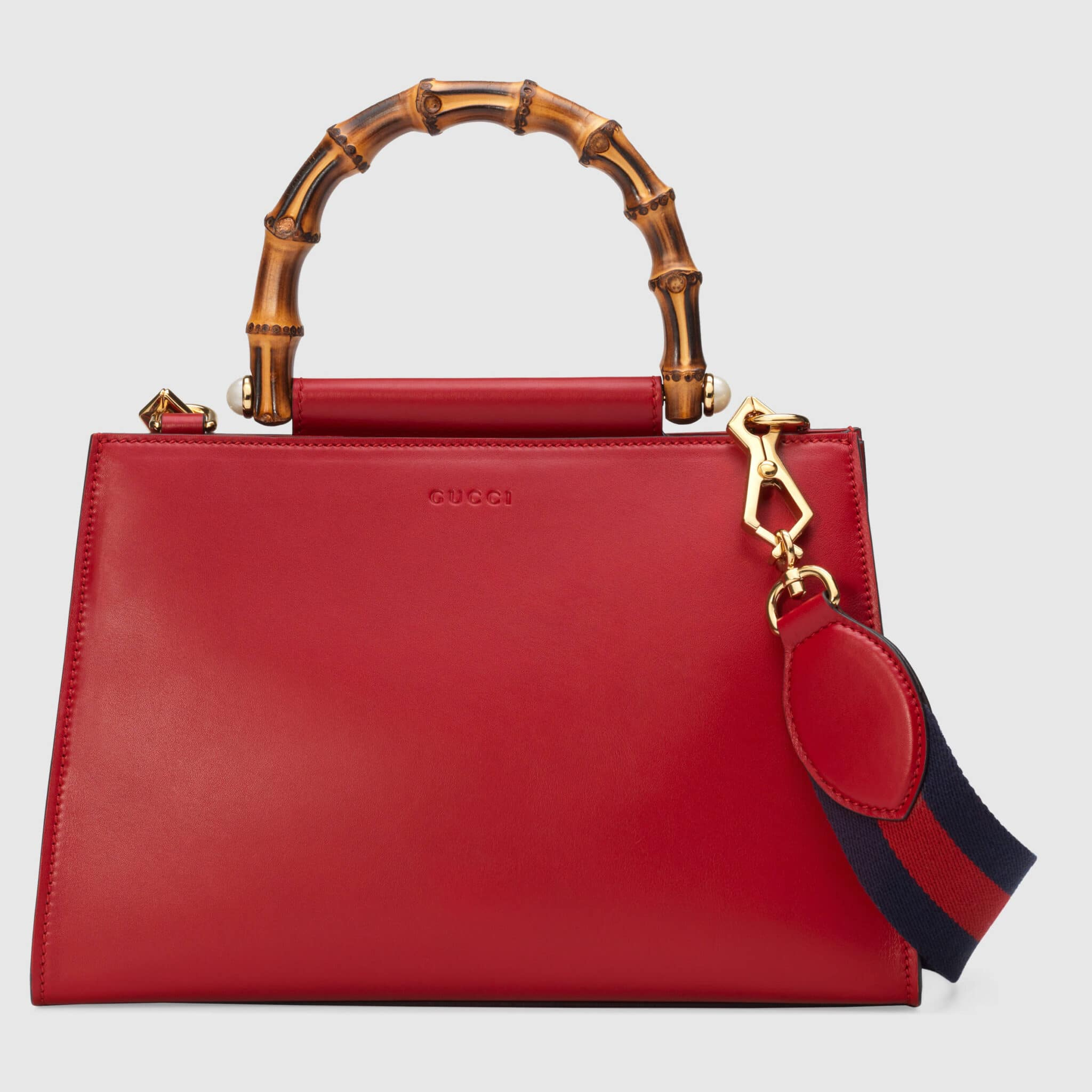 bb55f6d4784 Gucci Hibiscus Red Small Nymphaea Top Handle Bag