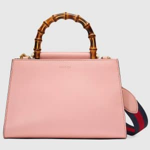 Gucci Light Pink/White Small Nymphaea Top Handle Bag