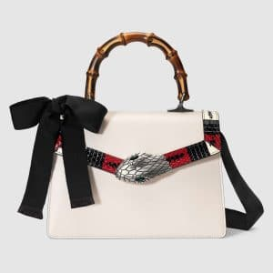Gucci White Small Lilith Top Handle Bag
