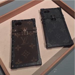 Louis Vuitton Monogram Canvas and Monogram Eclipse Petite Malle iPhone Cases