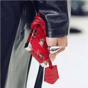 Louis Vuitton Red Crocodile Petite Malle iPhone Case