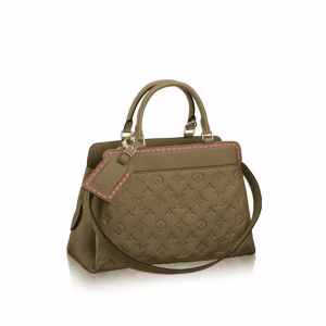 Louis Vuitton Rose Kaki Monogram Empreinte Vosges MM Bag