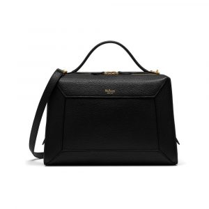 Mulberry Black Small Classic Grain Hopton Bag