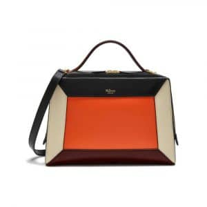 Mulberry Black/Orange/Chalk/Crimson Smooth Calf Hopton Bag