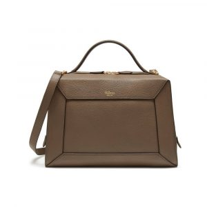 Mulberry Clay Small Classic Grain Hopton Bag