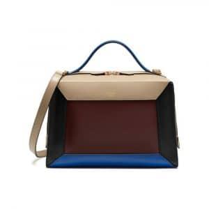 Mulberry Dune/Oxblood/Black/Blue Smooth Calf Hopton Bag