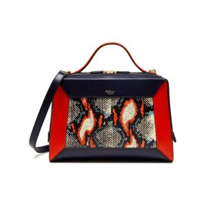 Mulberry Multi Fiery Red Midnight Snakeskin & Smooth Calf Hopton Bag