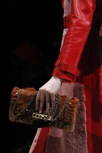 Prada Brown Embellished Fur Flap Bag - Fall 2017