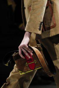 Prada Brown Suede Painted Cahier Bag - Fall 2017