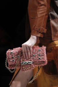 Prada Pink Embellished Fur Flap Bag - Fall 2017