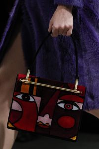Prada Red Abstract Face Top Handle Bag 2 - Fall 2017