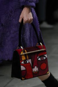 Prada Red Abstract Face Top Handle Bag - Fall 2017