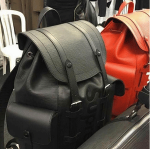 Supreme x Louis Vuitton Black and Red Epi Backpack Bags