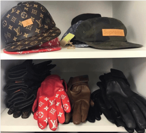 Supreme x Louis Vuitton Hats and Gloves