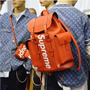 Supreme x Louis Vuitton Red Epi Backpack Bag