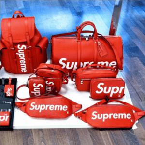 Supreme x Louis Vuitton Red Epi Bags 2