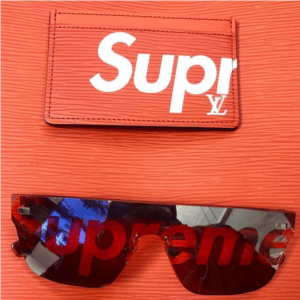 Supreme x Louis Vuitton Red Epi Card Holder and Sunglasses