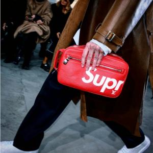 Supreme x Louis Vuitton Red Epi Clutch Bag